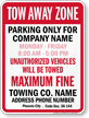 Custom Arizona Tow-Away Sign (Phoenix Alone)