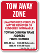 Custom Connecticut Tow-Away Sign