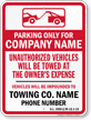 Custom Rhode Island Tow-Away Sign