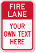 Custom Fire Lane Sign