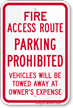 Parking Prohibited Sign