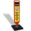FlexPost Caution Slippery Parking Lot Paddle Portable