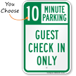 Minute Parking Sign