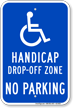 Drop Off or Pick Up Sign