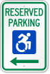 Reserved Parking Sign With Updated ISA Symbol