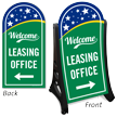 2-Sided BigBoss A-Frame Portable Sidewalk Leasing Office Sign
