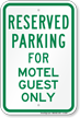 Parking Space Reserved Sign