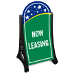 BigBoss A-Frame Portable Sidewalk Leasing Office Sign