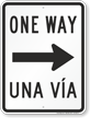 Bilingual One Way Sign