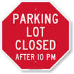 Parking Area Sign