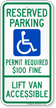 Montana ADA Handicapped Parking Sign
