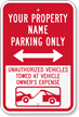 Custom Reserved Parking Sign