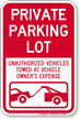 Parking Restriction Sign