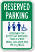 Pregnant Mother Reserved Parking Sign
