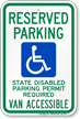 Washington ADA Handicapped Parking Sign