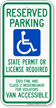 South Dakota ADA Handicapped Parking Sign