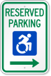 Reserved Parking Sign With Modified ISA Logo