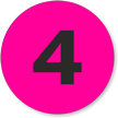 Fluorescent Pink and Black number 4