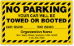 Custom No Parking Label