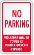No Parking Label