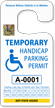 Jumbo 2-Sided Temporary Handicap Parking Permit Hang Tag