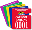Extra Large Numbers - ToughTags™ Carpool Parking Permits, Small Size, Choice of 9 colors