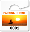 PhotoTags™ Permits, Small, Boat at Sunset