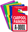 Extra Large Numbers - ToughTags™ Carpool Parking Permits, Standard Size, Choice of 9 colors