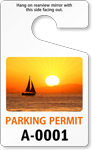 PhotoTags™ Permits, Standard Size, Boat at Sunset