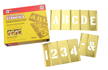 Brass Interlocking Stencils Letters & Numbers Kit