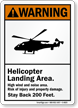 Helipad ANSI Warning Sign