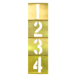 Brass Interlocking Number Stencils Kit
