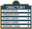 Marquis™ Directory Sign, 5-Panel, 10-3/8