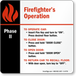 Elevator Phase II Sign, 6in. x 6in.
