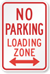 R7-6D No Parking Loading Zone