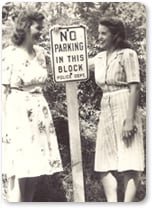 1940 Parking Signs