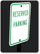 1950 Parking Signs