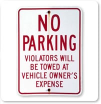 1990 Parking Signs