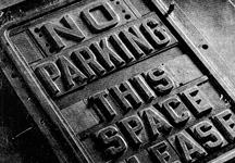 Original parking sign mold